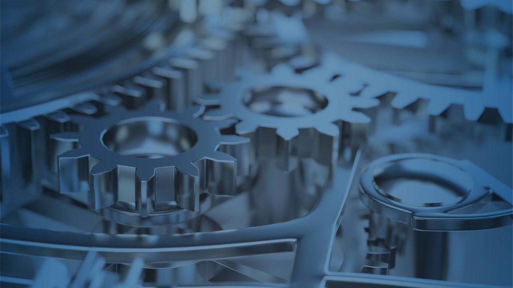 Viele Zahnräder in Maschine oder Motor
